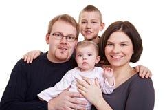 Verticale de famille avec l'enfant et la chéri Photos stock