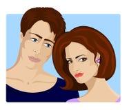 Verticale de famille. Beaux jeunes couples dans l'amour Images stock