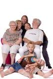 Verticale de famille d'un groupe fou Image stock