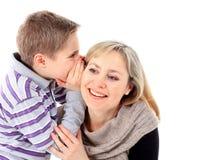 Verticale de famille de mère et de fils Photos libres de droits
