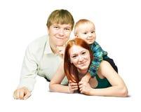 Verticale de famille heureuse Image libre de droits