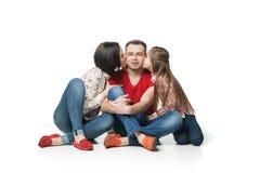 Verticale de famille heureuse et amicale Photographie stock