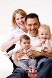 Verticale de famille le deuxième Images libres de droits