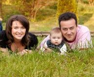 Verticale de famille - mère, père et descendant Images libres de droits