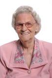 Verticale de femme âgée Photo libre de droits