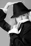 Verticale de femme élégante d'affaires Photographie stock libre de droits