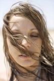 Verticale de femme. Image libre de droits
