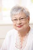 Verticale de femme aînée à la maison Photographie stock libre de droits