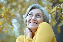 Verticale de femme aînée Image stock
