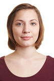 Verticale de femme avec le blanc image stock