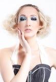 Verticale de femme blonde Images libres de droits