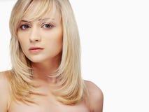 Verticale de femme blonde Photographie stock