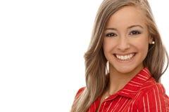 Verticale de femme blonde de sourire Photos libres de droits