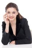 Verticale de femme d'affaires Images stock