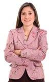 Verticale de femme d'affaires Photographie stock