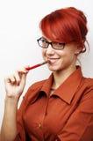 Verticale de femme d'affaires Photo libre de droits