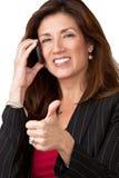 Verticale de femme d'affaires assez mûre Photographie stock libre de droits