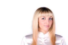 Verticale de femme d'affaires blonde attirante photo stock