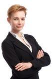 Verticale de femme d'affaires confiante Image libre de droits