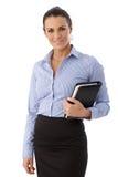 Verticale de femme d'affaires heureuse Photos stock