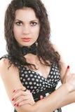 Verticale de femme de beau et de mode modèle photos stock