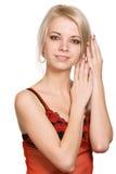 Verticale de femme de beauté Photos stock