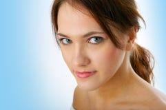 Verticale de femme de beauté Photographie stock libre de droits