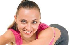Verticale de femme de forme physique Photographie stock