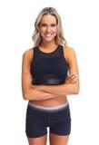 Verticale de femme de forme physique photos stock