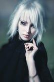 Verticale de femme de Goth Image stock