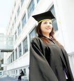 Verticale de femme de graduation Photo stock