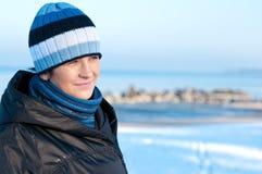 Verticale de femme de l'hiver Photographie stock