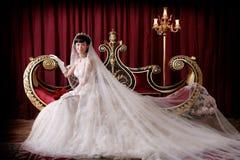 Verticale de femme de mariage Photos stock