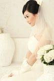 Verticale de femme de mariage photographie stock libre de droits