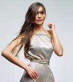 Verticale de femme de mode Image libre de droits