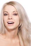 Verticale de femme de sourire Image libre de droits