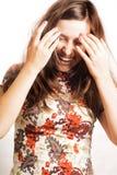 Verticale de femme de sourire de beauté Image libre de droits