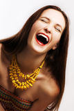 Verticale de femme heureuse de beauté Image stock