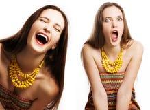 Verticale de femme heureuse de beauté Images stock