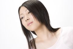 Verticale de femme japonaise photographie stock libre de droits