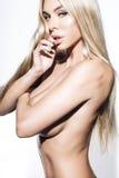 Verticale de femme sexy Photos libres de droits