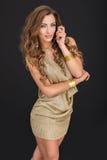 Verticale de femme sexy avec le long cheveu Photographie stock libre de droits