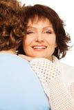 Verticale de femme supérieure heureuse Images stock