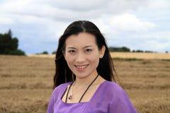 Verticale de femmes d'Asie Photo libre de droits