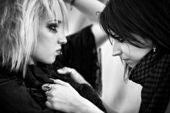 Verticale de femmes de Goth Photo stock
