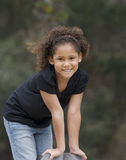 Verticale de fille afro-américaine Image stock