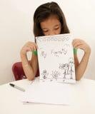 Verticale de fille asiatique Photographie stock libre de droits