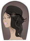 Verticale de fille bronzée Illustration Libre de Droits