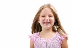 Verticale de fille - détail de visage Photo libre de droits