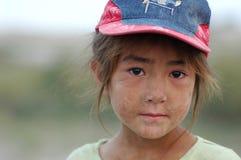 Verticale de fille d'Uyghur Photographie stock